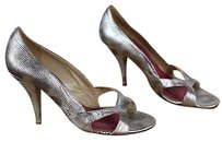 Kate Spade Ny Silver Gold Multi-Color Pumps