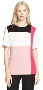 Kate Spade Colorblock White Black Top Pink