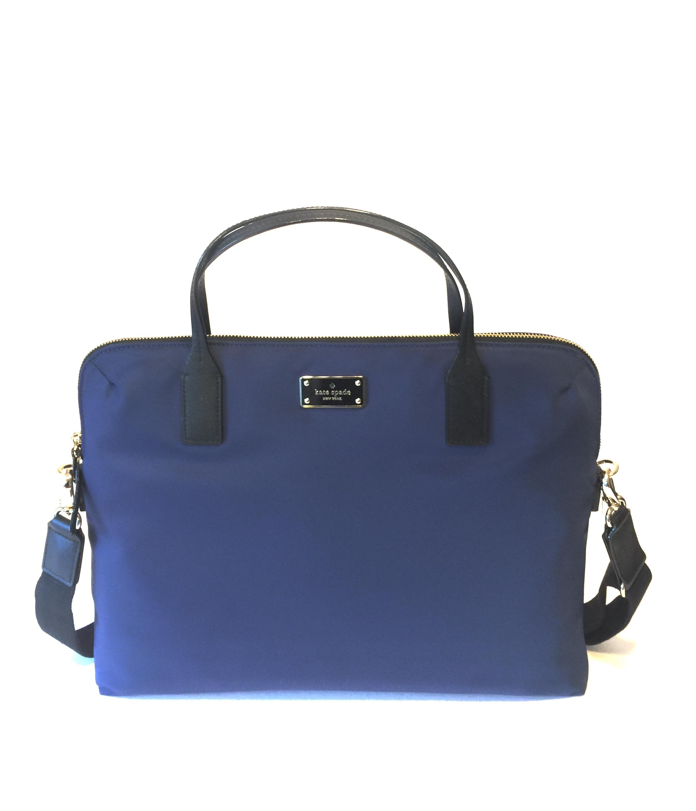 Kate Spade Daveney Blake Avenue Computer Blue Nylon Laptop Bag Tradesy