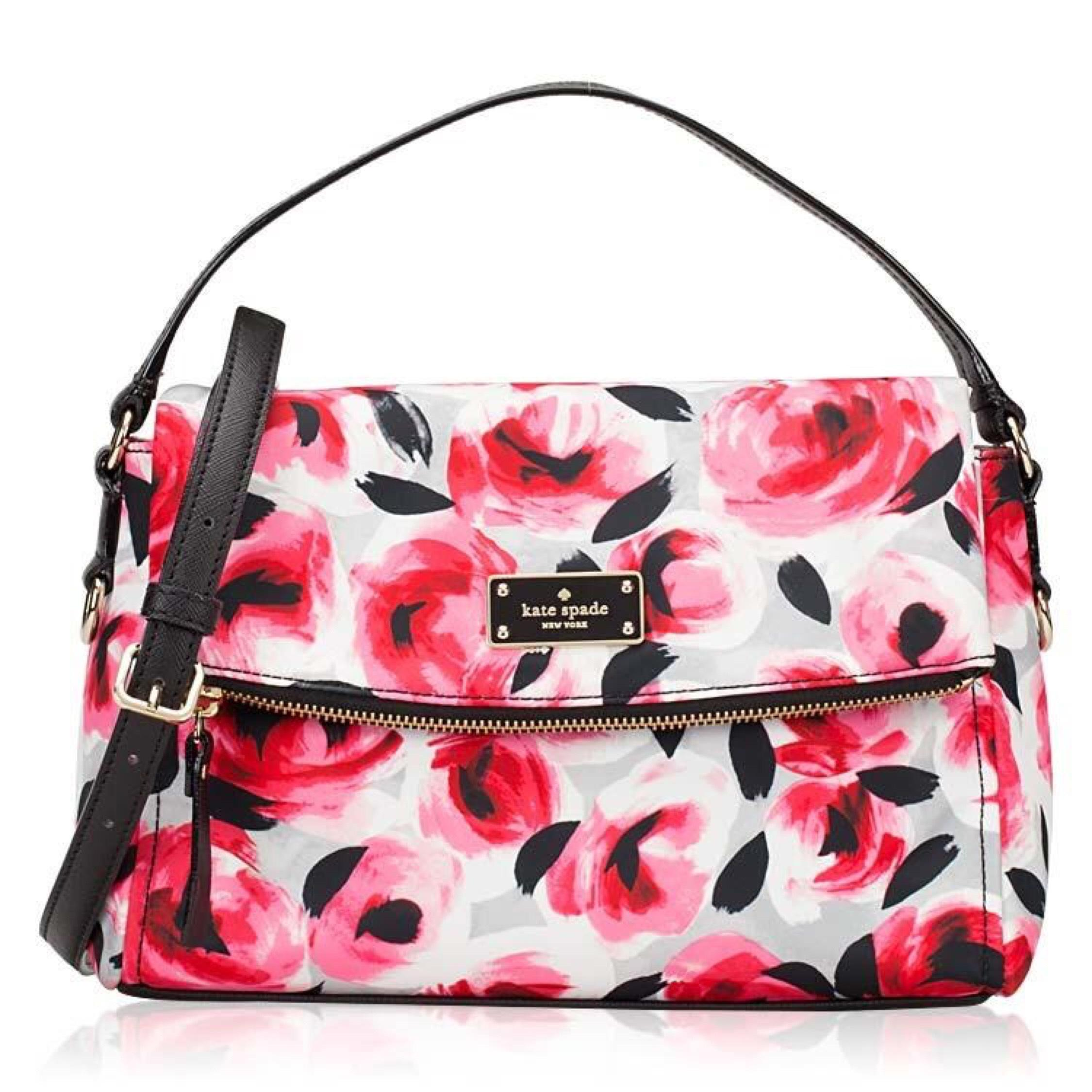 Kate Spade Blake Avenue Miri Rose Bed Fold Over Flap Satchel Pink Cross Body Bag On Sale 42% ...