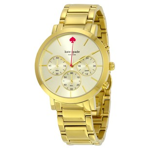 Kate Spade Gramercy Grand Chronograph Champagne Dial Gold-tone Ladies