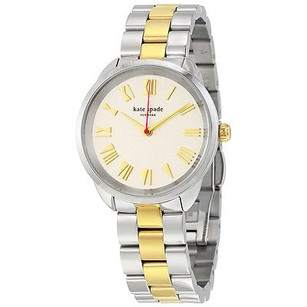 Kate Spade Kate Spade Crosstown Silver Dial Two-tone Ladies Watch