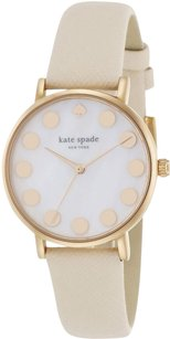 Kate Spade Ladies Metro Dot Neutral Saffiano Leather Strap Watch 1YRU0734