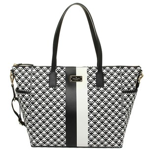 Kate Spade Leather Black and White Diaper Bag