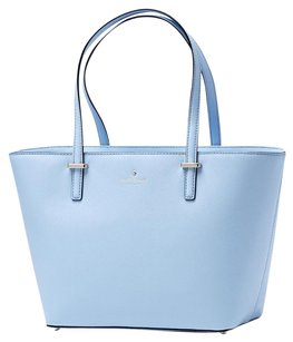 Kate Spade Leather Gold Harmony Tote in Sky Blue