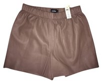 Kate Spade Saturday Leather Hang Tough Dress Shorts Mocha 253