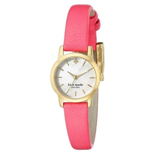 Kate Spade New York Women's Tiny Metro Gold-Tone Watch with Pink Leather Band