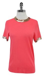 Kate Spade Pink & Rose Gold Sequin T Shirt
