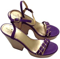 Kate Spade Lavendar Metallic Gold Purple Sandals