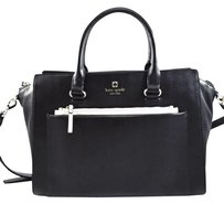 Kate Spade Leather Bernadine Satchel in Black