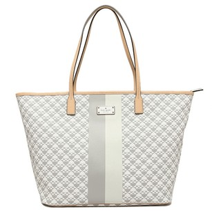 Kate Spade Shopper Tote in Gray and White