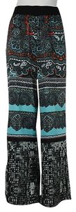 Katherine Barclay Womens Printed Casual Wideleg Trousers Pants