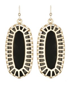 Kendra Scott Kendra Scott Dayla Oblong Black Drop Earrings