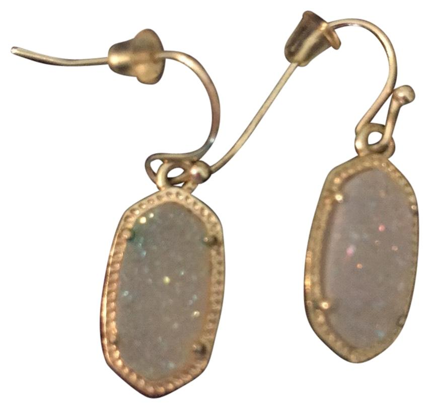 kendra small earrings kendra white with gold small drop earrings tradesy 3128