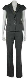 Kenneth Cole Kenneth Cole Womens Gray Pant Suit 42 Career Cap Sleeve Trousers Blazer