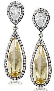 Kenneth Jay Lane Cz By Kenneth Jay Lane Yellow Cz Double Pear Dazzling Red Carpet Earrings