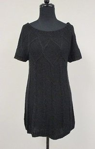 Kensie Pretty Acrylic Blend Short Sleeve Wide Neck Y044 Tunic