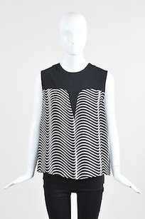 Kenzo White Blurred Top Black