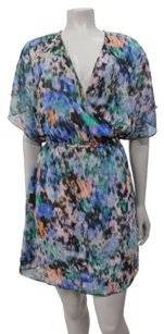 Kimchi Blue Faux Wrap Abstract Print Open Back Multi Urban Outfitters Dress