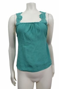 Kimchi Blue Crochet Strap Urban Outfitters Top Green