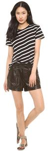 Koral Black Jogging Leather Shorts