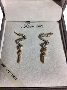 Krementz 14k Gold Post Krementz Earring