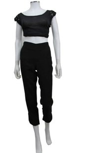 L'AGENCE Lagence Butter Trim Capri/Cropped Pants Black