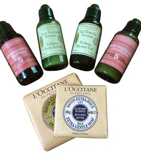 L'Occitane Delux L'Occitane shampoo, conditioner, body wash, soap and lotion!