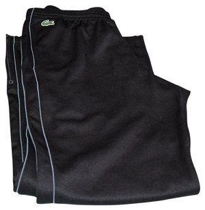 Lacoste Ankle Zip Drawstring Waist Athletic Pants Black, Gray