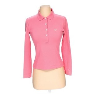 Lacoste Polo Longsleeve Shirt Top Pink