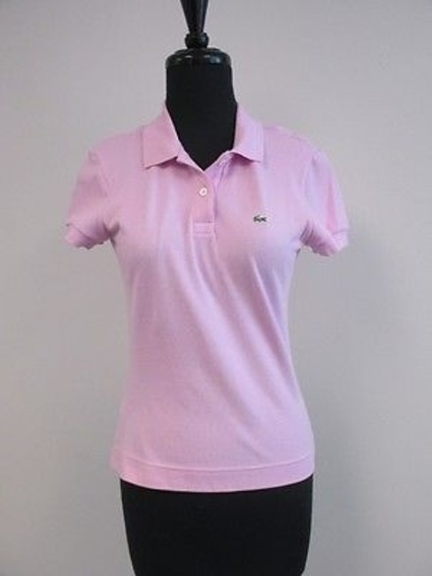 Lacoste Pink Cotton Short Sleeves Solid Casual Button Polo Shirt Top Sz40 V141 50%OFF