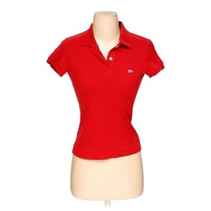Lacoste Polo Shirt Casual Button Down Shirt Red