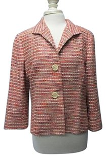 Lafayette 148 New York Lafayette 148 Tan Burgundy Purple Sleeves Button Blazer Sma 6655