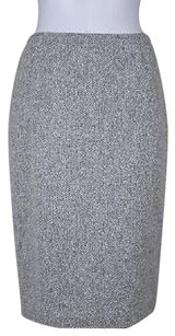 Lafayette 148 New York Womens Black Skirt Multi-Color