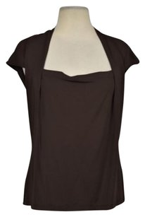 Lafayette 148 New York Womens Wtw Career Cap Sleeve Shirt Top Brown