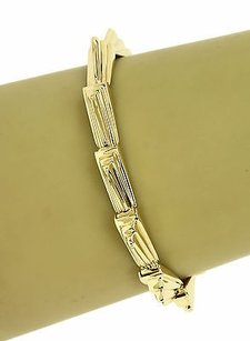Lagos Designer Lagos Solid 14k Yellow Gold Ladies Stylish Wave Motif Bracelet