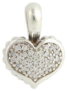Lagos Lagos Caviar Diamond Heart Pendant - Sterling Silver 18k Yellow Gold .52ctw