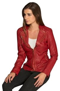 LAI Flaming Red Leather Jacket