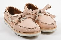Lanvin White Rose Gold Pink Flats