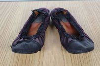 Lanvin Womens Color Purple Black Flats