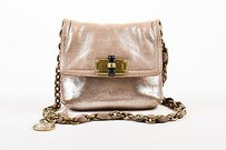 Lanvin Silver Metallic Shoulder Bag