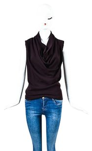 Lanvin Wool Scoop Neck Top Purple