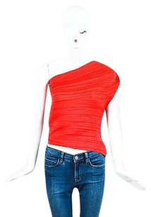 Lanvin Pleated One Top Red