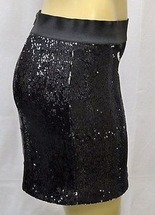 LaROK Luxe Tiny Sequin Zip Back Stretch Waistband Mini 110427 Skirt Blacks