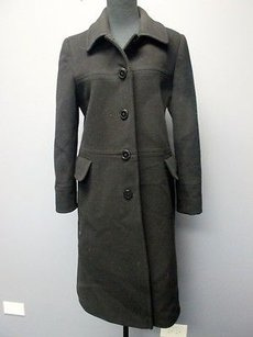 Larry Levine Design Lambswool Cashmere Lined Button Front Sm8877 Coat