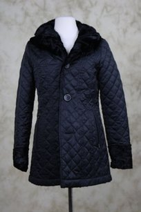 Laundry by Shelli Segal Womens Quilted Coat Reversible Black Jacket