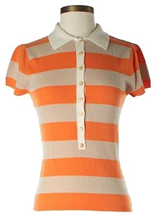 Laundry by Shelli Segal Cashmere Preppy Striped Top