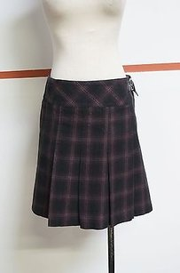 Laundry by Shelli Segal Blackred Plaid 100 Pleated 10490 Skirt Multi-Color