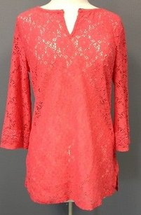 Laundry by Shelli Segal Doublure Open Knit Floral Sma 6591 Tunic