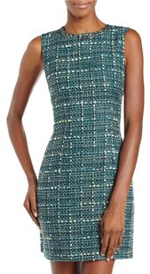 Laundry by Shelli Segal Tweed Chain Casual Fitted Dress
